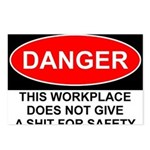 Danger Sign Postcards (Package of 8)