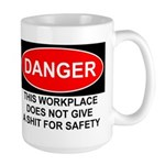Danger Sign Large Mug