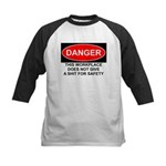 Danger Sign Kids Baseball Jersey