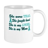 She is Mom Angel Teal Mug