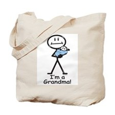 New Grandma Baby Boy Tote Bag