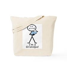 New Grandpa Baby Boy Tote Bag
