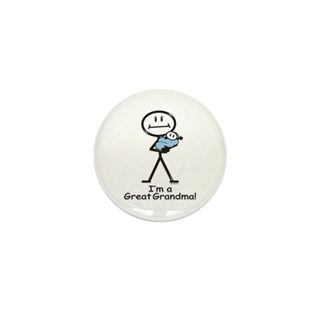 Great Grandma Baby Boy Mini Button (100 pack)