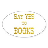 Yes to Books Oval Sticker (50 pk)