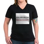 Real Men Become Rheumatologists Women's V-Neck Dar