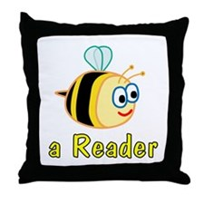 Book Reading Throw Pillow