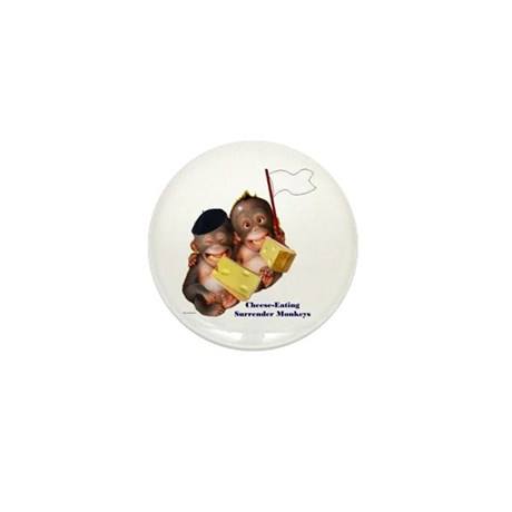 Cheese Eating Surrender Monkeys I Mini Button (100