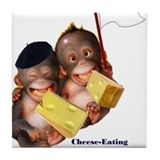 Cheese Eating Surrender Monkeys I Tile Coaster