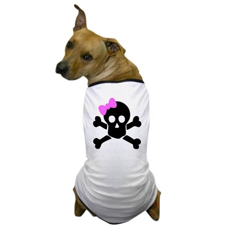 Girly Skull Dog T-Shirt