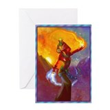 Egyptian deities Greeting Card