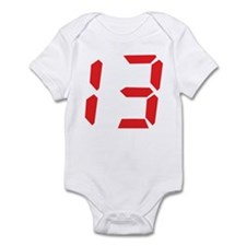 13 thirteen red alarm clock n Infant Bodysuit