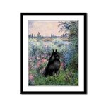 Seine / Schipperke Framed Panel Print