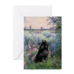 Seine / Schipperke Greeting Card