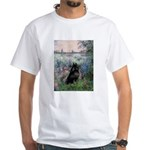 Seine / Schipperke White T-Shirt