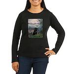 Seine / Schipperke Women's Long Sleeve Dark T-Shir