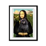 Mona / Schipperke Framed Panel Print