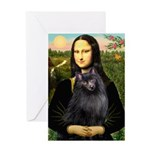 Mona / Schipperke Greeting Card