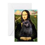 Mona / Schipperke Greeting Cards (Pk of 20)