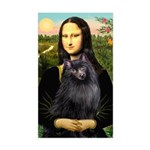 Mona / Schipperke Sticker (Rectangle)