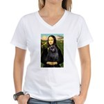 Mona / Schipperke Women's V-Neck T-Shirt