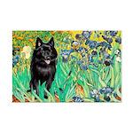 Irises / Schipperke #2 Mini Poster Print