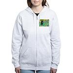 Irises / Schipperke #2 Women's Zip Hoodie