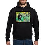 Irises / Schipperke #2 Hoodie (dark)