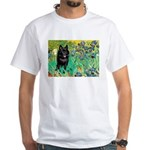 Irises / Schipperke #2 White T-Shirt