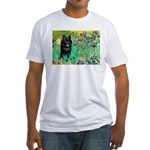 Irises / Schipperke #2 Fitted T-Shirt