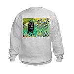 Irises / Schipperke #2 Kids Sweatshirt