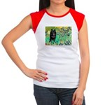 Irises / Schipperke #2 Women's Cap Sleeve T-Shirt