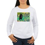 Irises / Schipperke #2 Women's Long Sleeve T-Shirt