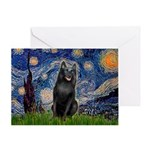 Starry / Schipperke #5 Greeting Card