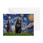 Starry / Schipperke #5 Greeting Cards (Pk of 10)