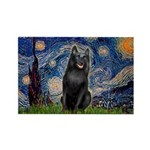 Starry / Schipperke #5 Rectangle Magnet