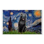 Starry / Schipperke #5 Sticker (Rectangle)