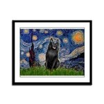 Starry / Schipperke #5 Framed Panel Print
