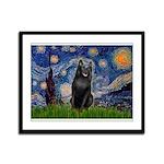 Starry / Schipperke #5 Framed Panel Print