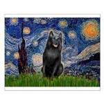 Starry / Schipperke #5 Small Poster
