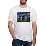 Starry / Schipperke #5 Fitted T-Shirt