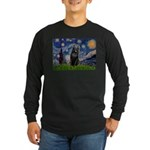 Starry / Schipperke #5 Long Sleeve Dark T-Shirt