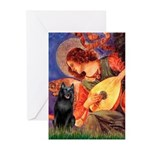 Mandolin / Schipperke #5 Greeting Cards (Pk of 10)
