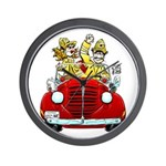 """MORRO BAY FIRE MUSTER"" Wall Clock"
