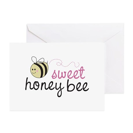 Sweet Honey Bee Greeting Cards (Pk of 20)