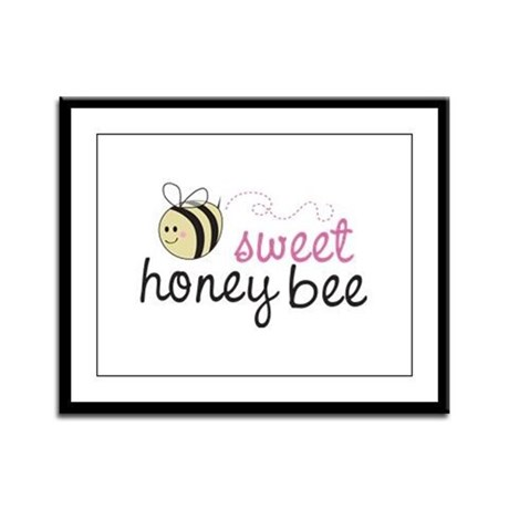 Sweet Honey Bee Framed Panel Print