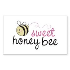 Sweet Honey Bee Rectangle Decal