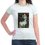 Ophelia / Schipperke #4 Jr. Ringer T-Shirt