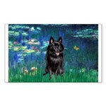 Lilies / Schipperke #4 Sticker (Rectangle)