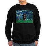 Lilies / Schipperke #4 Sweatshirt (dark)
