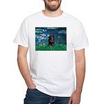 Lilies / Schipperke #4 White T-Shirt